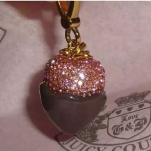 New Juicy Couture Chocolate Dip Strawberry Charm